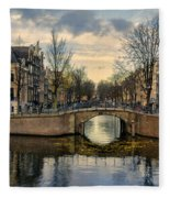 Amsterdam Bridges Fleece Blanket