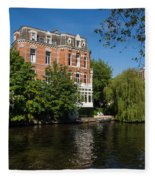 Amsterdam Canal Mansions - Floating By Fleece Blanket