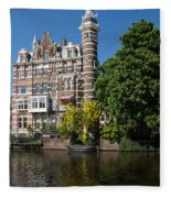 Amsterdam Canal Mansions - The Dainty Tower Fleece Blanket