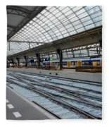 Amsterdam Central Station Fleece Blanket