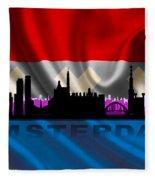 Amsterdam City Fleece Blanket