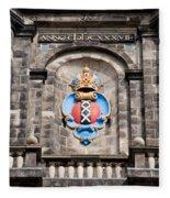 Amsterdam Coat Of Arms On Westerkerk Tower Fleece Blanket