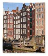 Amsterdam Houses Ar Sunset Fleece Blanket