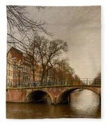 Amsterdam Panorama Fleece Blanket