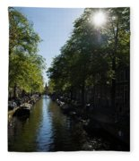 Amsterdam Spring - Green Sunny And Beautiful Fleece Blanket
