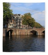 Amsterdam Stone Arch Bridge Fleece Blanket