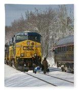 Amtrak And Csx Crews Fleece Blanket