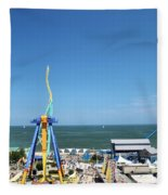 Amusement Park View Fleece Blanket