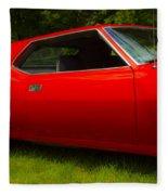 Amx Muscle Car Fleece Blanket