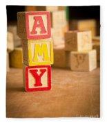 Amy - Alphabet Blocks Fleece Blanket