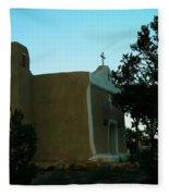 An Adobe Church In New Mexico Fleece Blanket