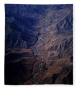 An Aerial View Of Winding Rivers Fleece Blanket