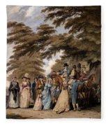An Airing In Hyde Park, 1796 Fleece Blanket