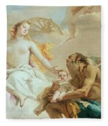 An Allegory With Venus And Time Fleece Blanket