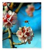 An Almond Pollen Day Fleece Blanket