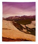 An Alpine Lake Near The Top Of Beartooth Pass  Fleece Blanket