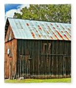 An American Barn 2 Oil Fleece Blanket