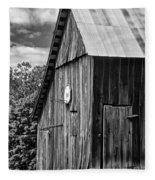 An American Barn Bw Fleece Blanket