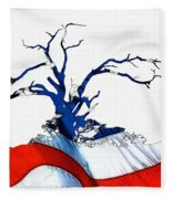 An American Tree Fleece Blanket