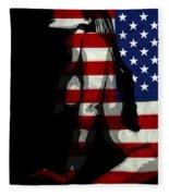 An American Woman Fleece Blanket