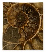 An Ancient Ammonite Pattern II Fleece Blanket