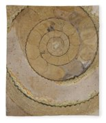 An Ancient Ammonite Pattern Vi Fleece Blanket