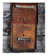 An Antique Mailbox Fleece Blanket