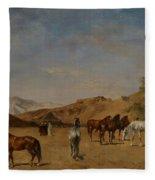 An Arabian Camp Fleece Blanket