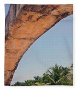 An Arch In Cozumela Fleece Blanket
