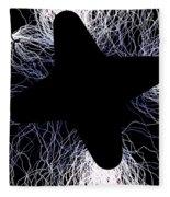 An Arcing Star Fleece Blanket