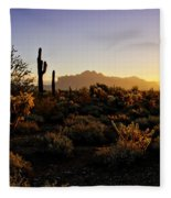 An Arizona Morning  Fleece Blanket
