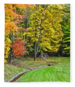 An Autumn Childhood Fleece Blanket