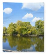 An Autumn Day Fleece Blanket