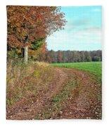 An Autumn Day Fleece Blanket