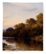 An Autumn Evening North Wales Fleece Blanket