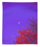 An Autumn Morning Fleece Blanket