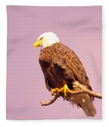 An Eagle Hanging Out Fleece Blanket