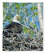 An Eagle In Its Nest  Fleece Blanket