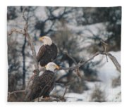 An Eagle Pair  Fleece Blanket