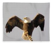 An Eagle Posing  Fleece Blanket