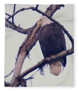 An Eagle Resting  Fleece Blanket