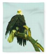 An Eagle Shaking It Off Fleece Blanket