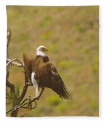 An Eagle Stretching Its Wings Fleece Blanket