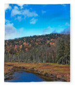An Early Fall Day At Cary Lake Fleece Blanket