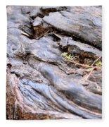 An Earthen Abstract Fleece Blanket