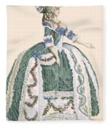 An Elaborate Royal Court Gown, Engraved Fleece Blanket