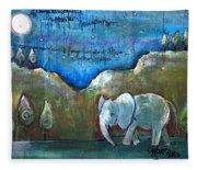 An Elephant For You Fleece Blanket