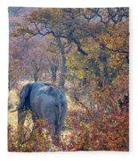 An Elephant Making Its Way Fleece Blanket