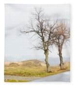 An Empty Path Fleece Blanket