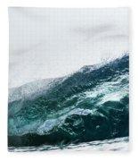 An Empty Wave Breaks Over A Shallow Reef Fleece Blanket